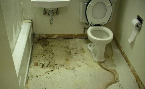 Thấm dột nhà vệ sinh là hiện tượng dễ xuất hiện trong gia đình