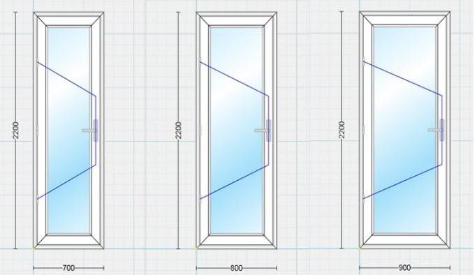 Một số loại kích thước phổ biến của cửa nhà vệ sinh hiện nay