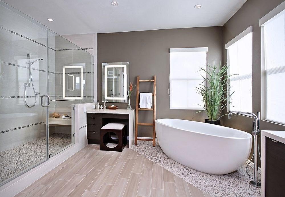 Nhà vệ sinh kích thước lớn có thể trang bị nhiều nội thất khác nhau