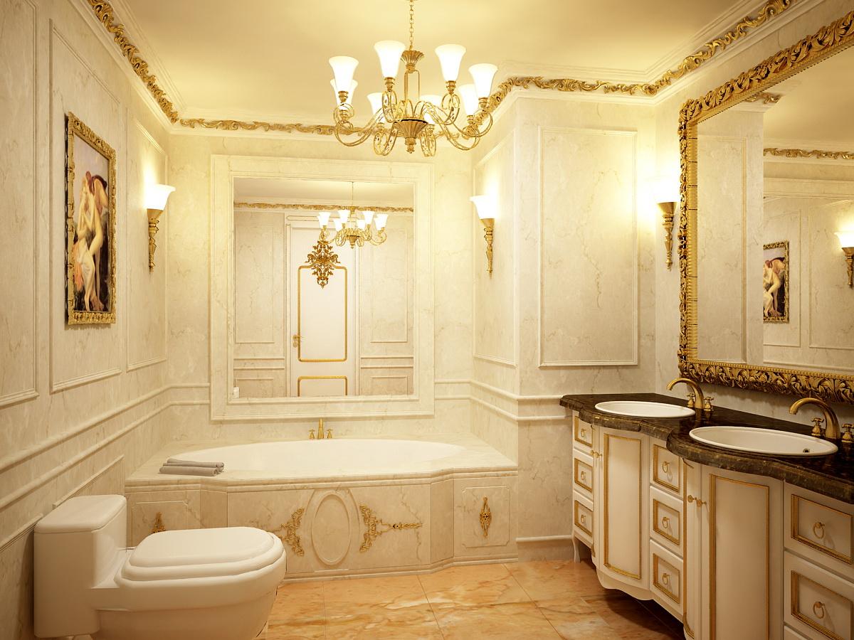 Mẫu nhà vệ sinh cao cấp mang phong cấp cổ điển độc đáo
