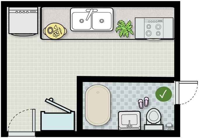 Quá trình sắp xếp nhà bếp và nhà vệ sinh cần lưu ý đến nhiều yếu tố khác nhau