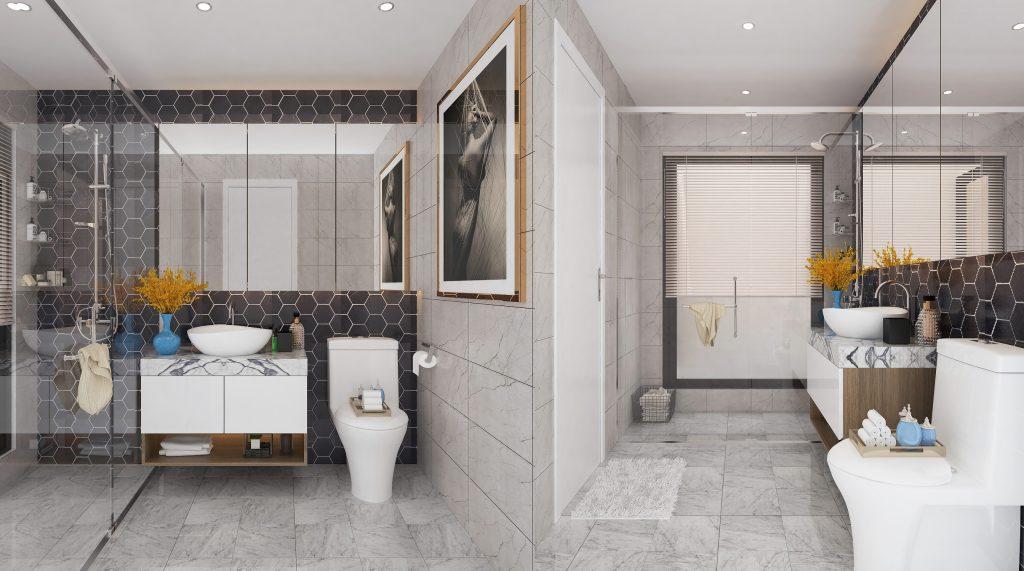 Nhà vệ sinh được thiết kế theo phong thủy mang lại tài lộc và nhiều điều may mắn