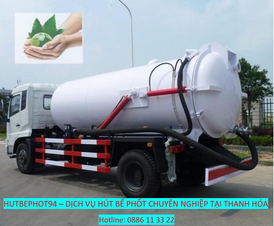 Dịch vụ hút bể phốt tại Thanh Hóa uy tín chuyên nghiệp