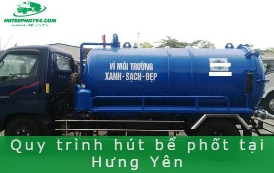 Quy trình hút bể phốt ở tỉnh Hưng Yên