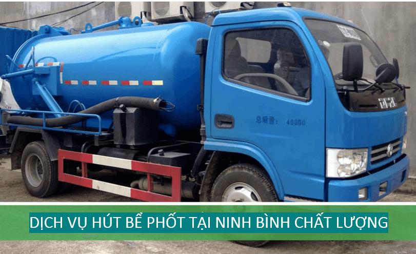 Dịch vụ hút bể phốt tại Ninh Bình chuyên nghiệp