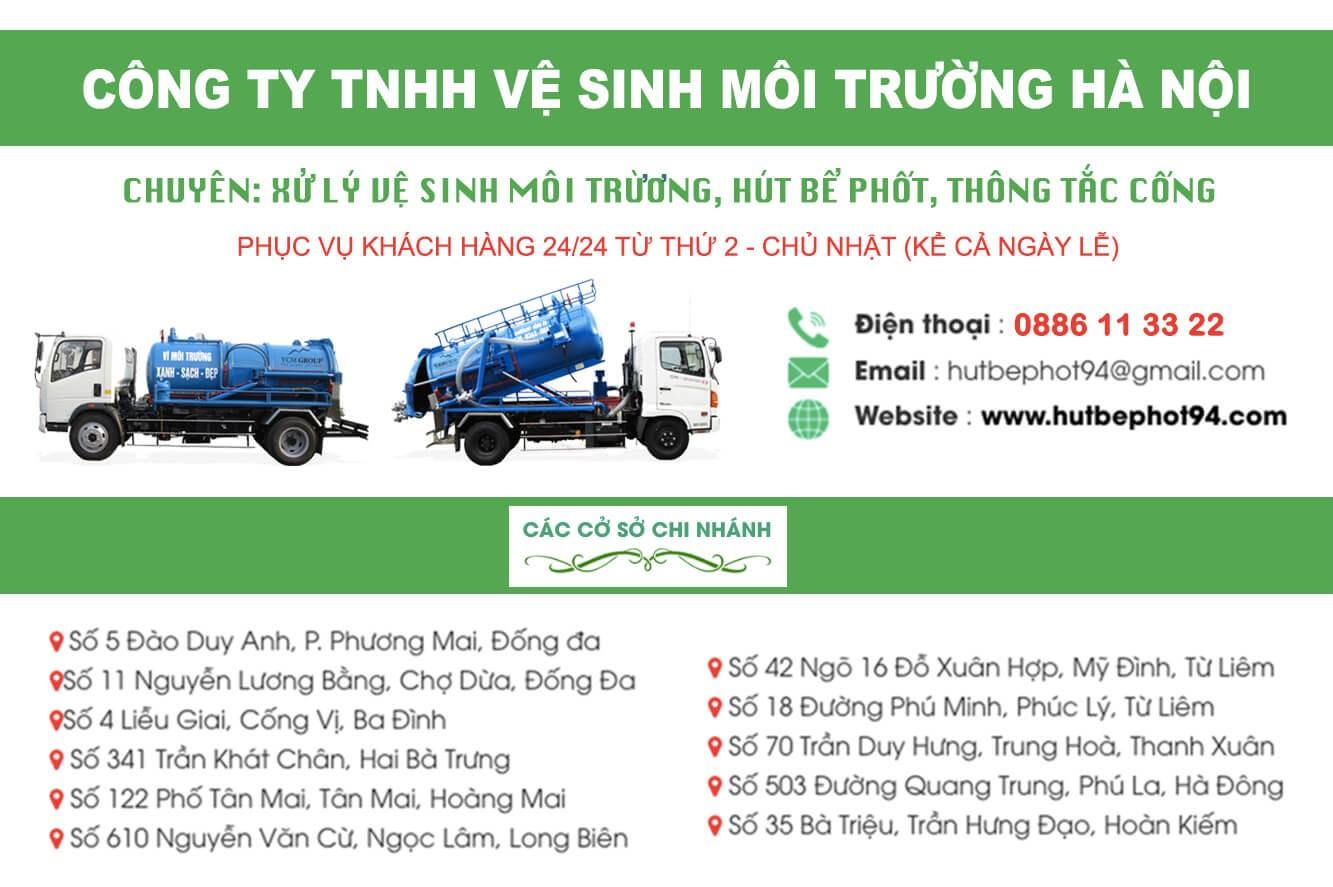 Công ty vệ sinh môi trường miền Bắc hutbephot94